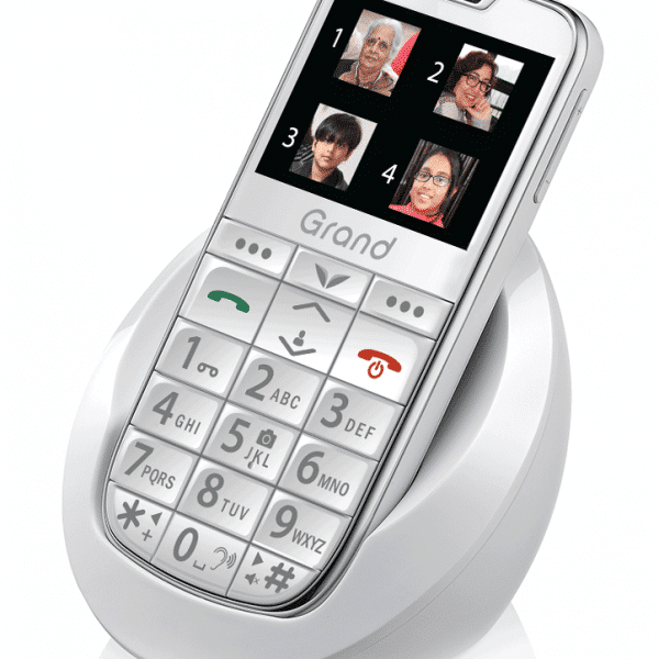Pedder Johnson Easy Fone Senior Phone-Grand (White)