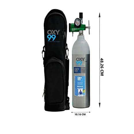 Oxy99 Portable Ultra Light Medical Oxygen Cylinder kit Boschi Italy 750 Ltr