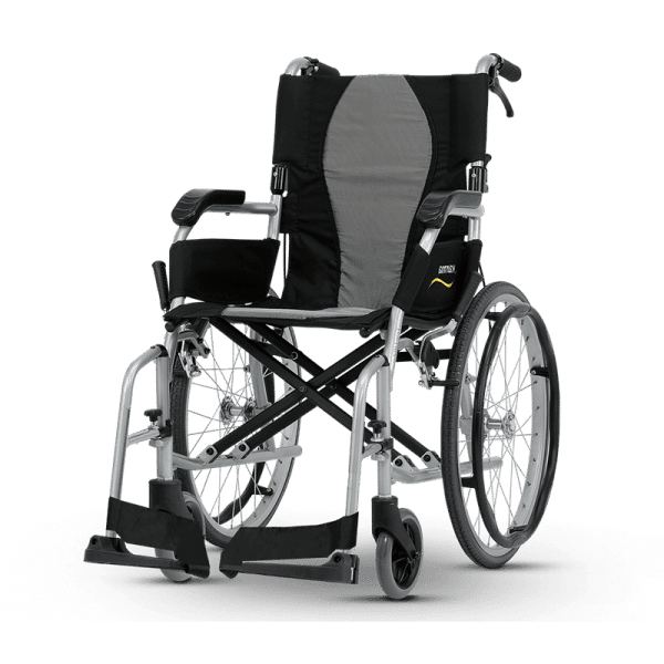 Karma%C2%AE Ergo Lite 2 (KM-2512) Ultralight Manual Aluminum Transport Wheelchair