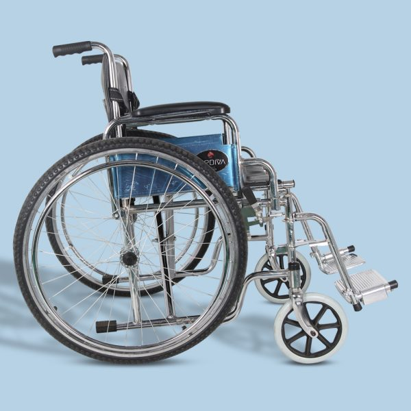 Mediva Manual Steel Wheelchair With Commode MHL 1002-C
