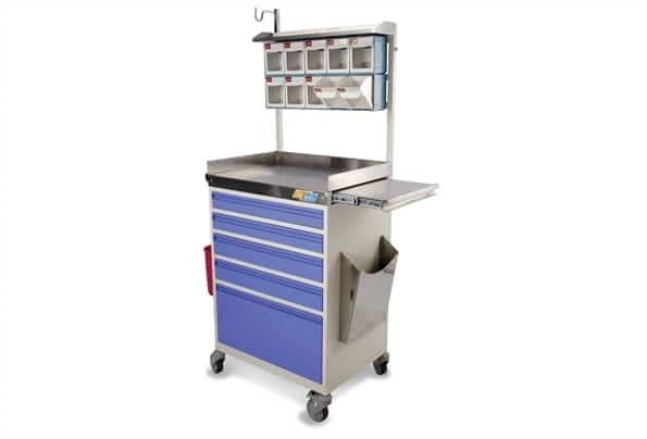 TRAUMA CARE MEDICINE TROLLEY 5 DRAWER
