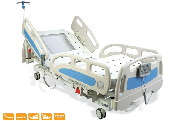 MOTORIZED ICU BED PRIME(X RAY PERMEABLE)