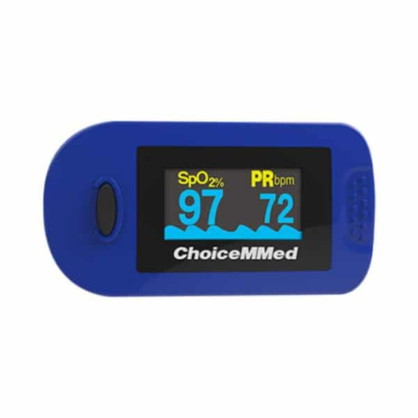 ChoiceMMed MD300C2 Fingertip Pulse Oximeter Blue