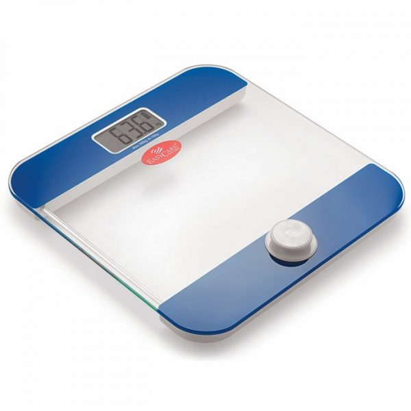 Easy Care EC 3321 Battery Free and One Press to Power Up Weighing Scale Blue