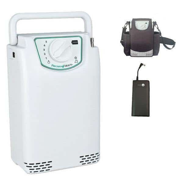 EasyPulse POC Portable Oxygen Concentrator with External Battery by Precision Medical