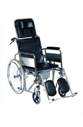 Med-e-Move Reclining Wheelchair with Commode