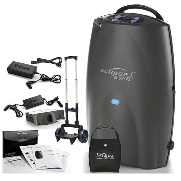 Eclipse 3 Portable Oxygen Concentrator with autoSAT by SeQual