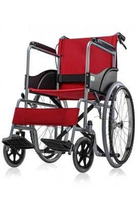 Med-e-Move Basic Premium Wheel Chair Powder Coated-Red