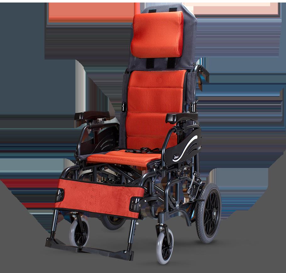 "Karma VIP 515 Lightweight Folding Tilt-in-Space Manual Wheelchair (14""Rear Wheel)"