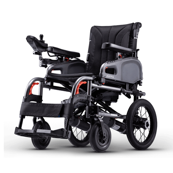 Karma eFlexx Foldable Power Wheelchair - Attendant Wheel