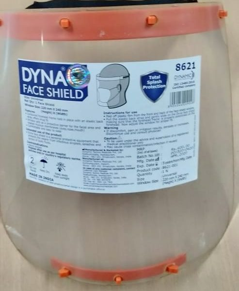 Buy Dyna Face Shield for Coronavirus COVID19 Protection in Pune & Mumbai, India