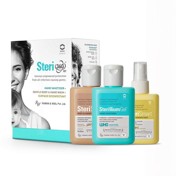 Buy Steri360 Hand Sanitizer & Surface Disinfectant Kit in Pune & Mumbai, India