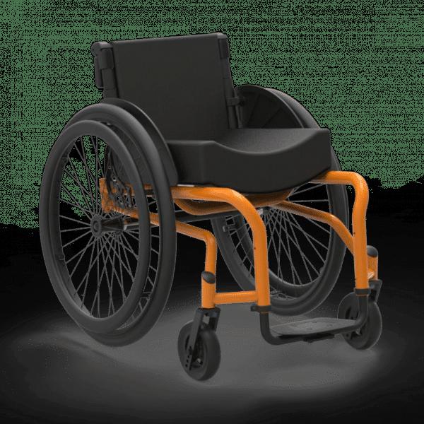 Buy Neomotion® NeoFly (Orange Colour) Fully Customisable Manual Wheelchair in Pune & Mumbai, India