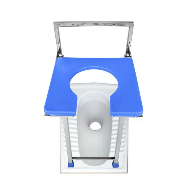 Buy Meditrove Wall Mounted Indian to Western Conversion Commode (Stainless Steel) in Pune, Mumbai, India
